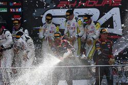 Podium: #28 Belgian Audi Club Team WRT, Audi R8 LMS: Nico Müller, René Rast