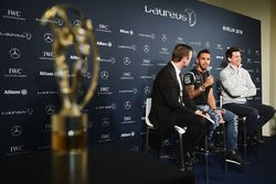 Lewis Hamilton, Mercedes AMG F1 Team and Toto Wolff, Mercedes AMG F1 Shareholder and Executive Direc