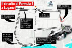 El circuito del ePrix di Lugano