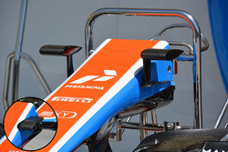 Manor Racing cámara detalle de montajes