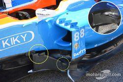 Manor Racing MRT05 comparación bargeboard