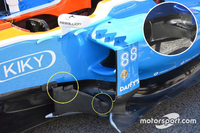 Manor Racing MRT05 bargeboard comparison