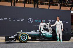 Nico Rosberg, Mercedes AMG F1 Team, Lewis Hamilton, Mercedes AMG F1 Team unveil the Mercedes AMG F1