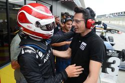 Winner Pedro Piquet celebrates with his team