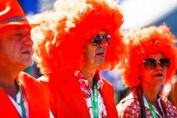 Dutch fans in orange