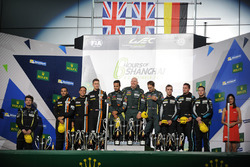GT AM Podium: #98 Aston Martin Racing Aston Martin Vantage: Paul Dalla Lana, Pedro Lamy, Mathias Lau