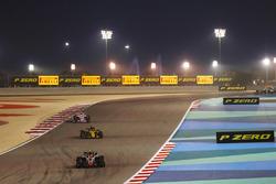 Kevin Magnussen, Haas F1 Team VF-18 Ferrari, Nico Hulkenberg, Renault Sport F1 Team R.S. 18, and Esteban Ocon, Force India VJM11 Mercedes