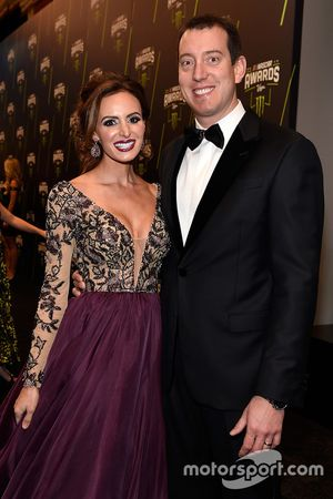 Kyle Busch y su esposa Samantha Busch