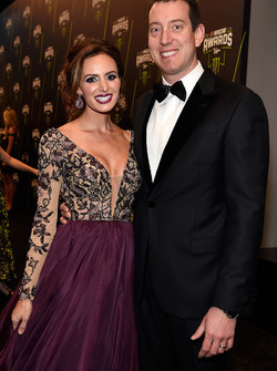 Kyle Busch and his wife Samantha Busch