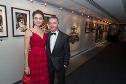 Paddy Lowe with wife Anna Danshina