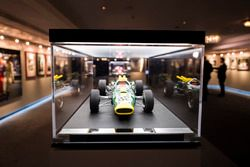 A model of a Jim Clark Lotus Indianapolis car on display