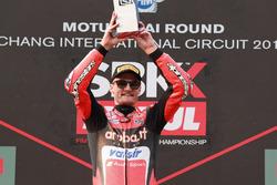 Podium: Race winner Chaz Davies, Aruba.it Racing-Ducati SBK Team