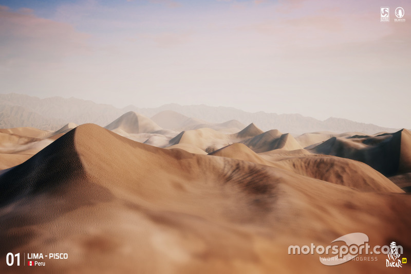 Dunas en la etapa 1 del Dakar 2018