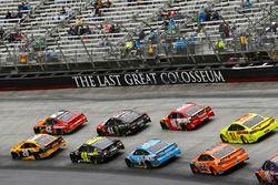 Erik Jones, Joe Gibbs Racing, Toyota Camry DeWalt and Kyle Larson, Chip Ganassi Racing, Chevrolet Camaro McDonald's