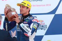 Jorge Martin, Del Conca Gresini Racing Moto3, fête sa victoire sur le podium