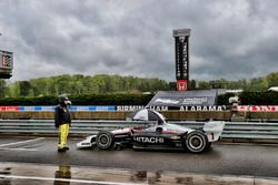 Cars stopped on pit lane under the red flag, Josef Newgarden, Team Penske Chevrolet