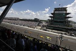 Will Power, Team Penske Chevrolet, Simon Pagenaud, Team Penske Chevrolet, Helio Castroneves, Team Penske Chevrolet, Ryan Hunter-Reay, Andretti Autosport Honda