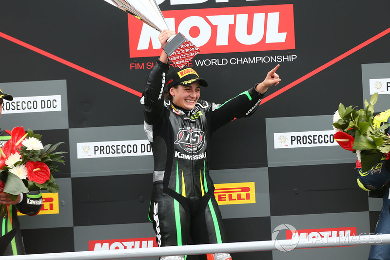 Podium SSP300: race winner Ana Carrasco