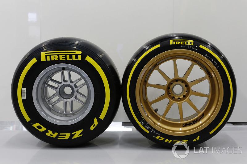 Comparación de tamaño de las ruedas de 18 pulgadas y 13 pulgadas