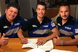 Emanuele Giovannelli, Michele Cervellin e Matteo Migliori, Team SM Action Yamaha