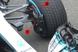 Mercedes W09 süspansiyon ve fren kanalı