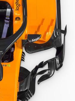 McLaren MCL33 detail sidepod