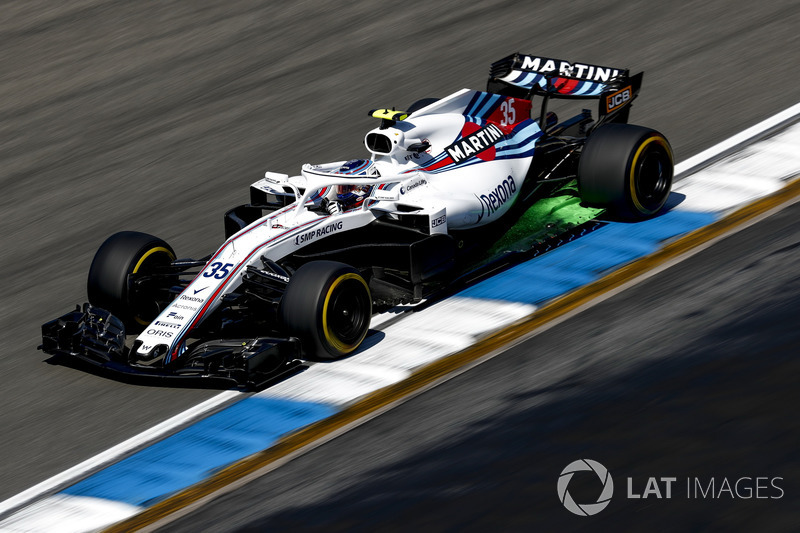 Sergey Sirotkin, Williams FW41, con parafina
