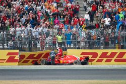 Sebastian Vettel, Ferrari SF71H, crash