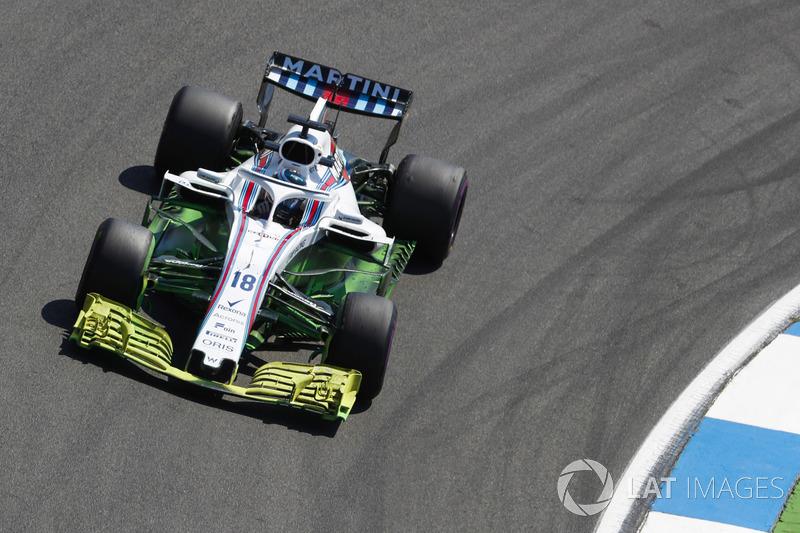 Una gran cantidad de parafina en el automóvil de Lance Stroll, Williams FW41