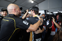 Jean-Eric Vergne, Techeetah, celebrates with his team after winning the championship