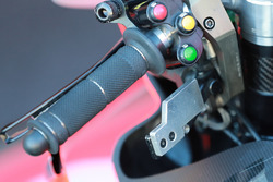Bike of Jorge Lorenzo, Ducati Team,thumb operated rear brake lever