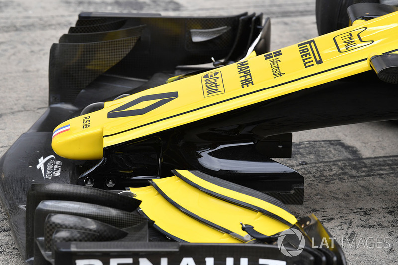 Renault Sport F1 Team R.S. 18 nose and front wing detail