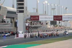 Start action, Francesco Bagnaia, SKY Racing Team VR46 leads