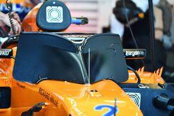 Stoffel Vandoorne, McLaren MCL33 en schermen