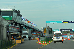 Pit lane and main straight