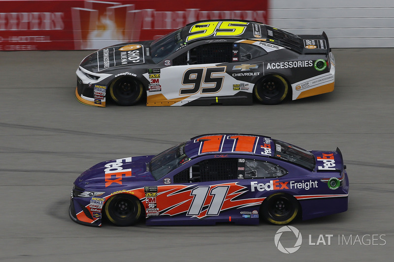 Denny Hamlin, Joe Gibbs Racing, Toyota Camry FedEx Freight Kasey Kahne, Leavine Family Racing, Chevr