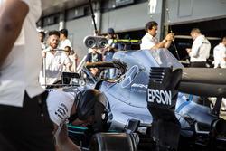 Mercedes AMG F1 práctica de parada en boxes