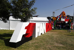 The entrance to the F1 Fanzone