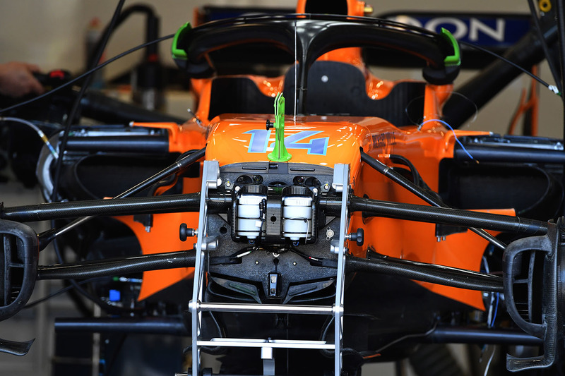 McLaren MCL33 front suspension and chassis detail