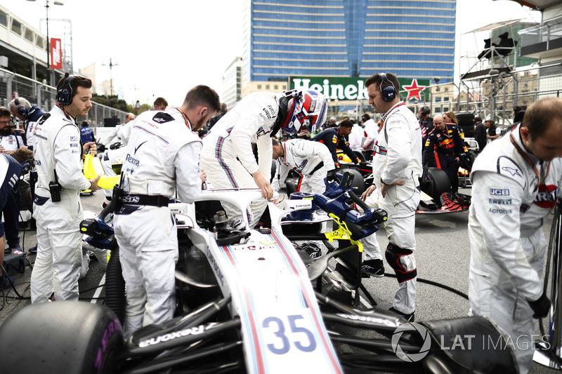 Sergey Sirotkin, Williams Racing, bersiap