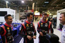 WRC drivers including Thierry Neuville, Andreas Mikkelsen, Sébastien Ogier and Nicolas Gilsoul