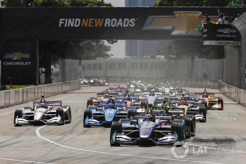 Alexander Rossi, Andretti Autosport Honda líder al inicio