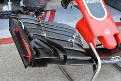 Detalle del ala delantera Haas F1 Team VF-18