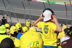 Des fans de Valentino Rossi