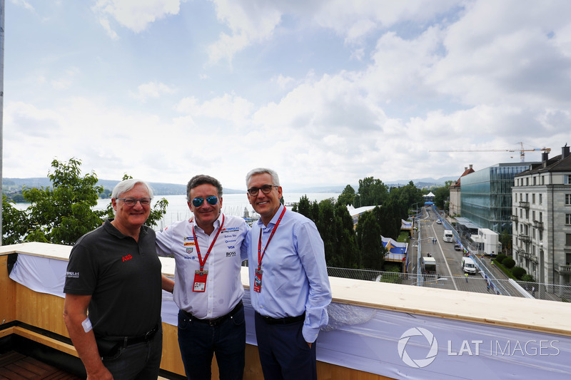 Alejandro Agag, CEO, Formula E, with Ulrich Spiesshofer, Chief Executive Officer, ABB