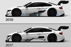 Komparasi aerodinamika BMW M4 DTM 2017 dan 2018