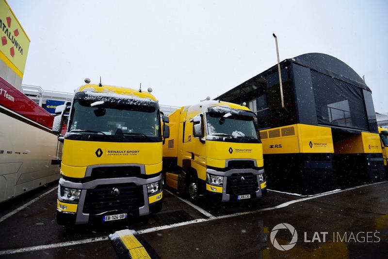 Truk Renault Sport F1 Team