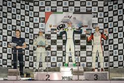 Podium: Race winner David Schumacher, Rasgaira Motorsports, second place Caio Collet, SILBERPFEIL Energy Dubai, third place William Alatalo, Mücke Motorsport