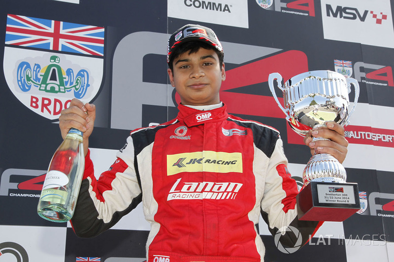 Race 3 winner Arjun Maini, Lanan Racing