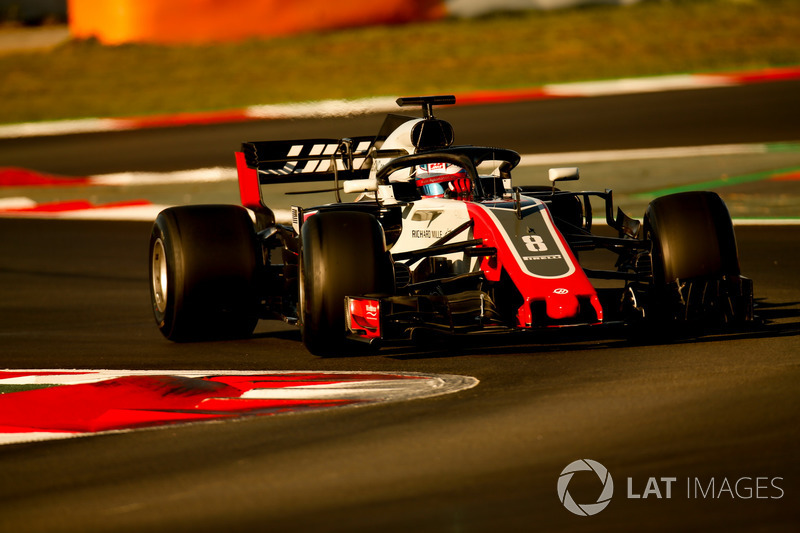 9º Romain Grosjean, Haas F1 Team VF-18: 1:18.412 (Ultrablandos)